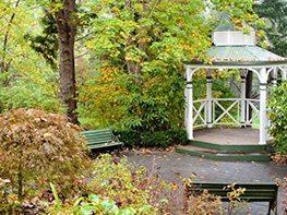Rotunda draped in greenery