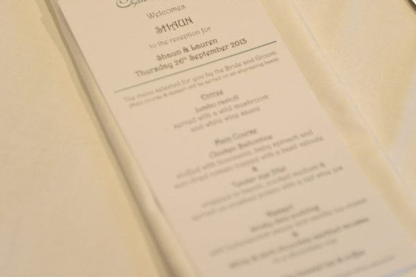 Personalised menus