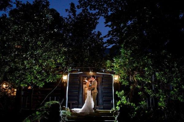 Night time on the Log Cabin verandah